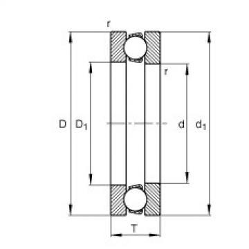 FAG محوري الأخدود العميق الكرات - 51128